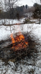 Burning remainig brush at Kelly Creek 20160124 a